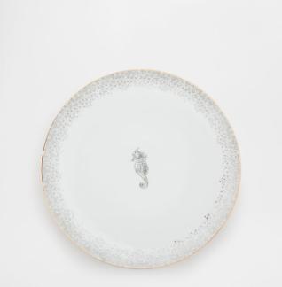 Vaisselle en porcelaine hippocampe
